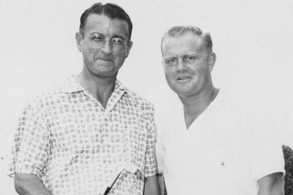 Jack Nicklaus with his instructor Jack Grout